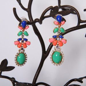 J. Crew Bright Colorful Drop Earrings
